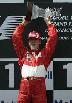 Schumacher is undoubtedly one of the best F1 drivers of all time. Image by Shell. Click here for a larger image.