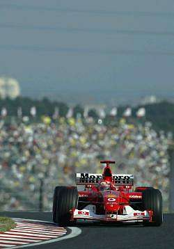 Michael Schumacher, Ferrari, 1st place. Image by Shell. Click here for a larger image.