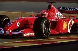 Michael Schumacher and Ferrari are strong favourites for the championships in 2002. Image by Ferrari. Click here for a larger image.