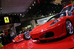 Ferrari's F430 was one of the show stars, and was proudly displayed with the Ferrari F1 car. Image by Shane O' Donoghue.