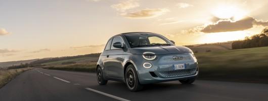 First drive: Fiat 500 EV Convertible. Image by Simon Thompson.