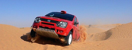 Baby Fiat to tackle the Dakar Rally. Image by Fiat.