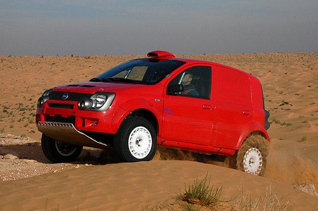 the pandakar fiat panda 4x4 takes on the dakar rally 56k lost in the desert. Black Bedroom Furniture Sets. Home Design Ideas