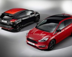 2015 Ford Focus Red and Black. Image by Ford.