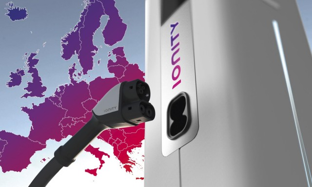 Ionity high-power EV charging network. Image by Ford.