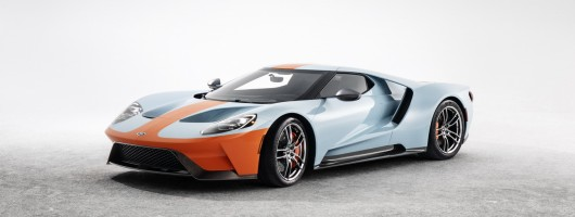 Ford dresses GT in iconic Gulf colours. Image by Ford.