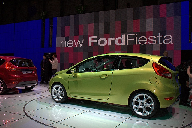 Ford reveals ECOnetic Fiesta. Image by Shane O' Donoghue.
