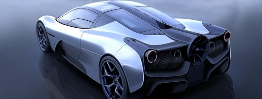 Gordon Murray shows first pic of new supercar. Image by Gordon Murray Design.