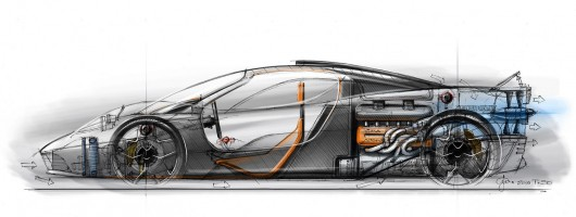 The GMA T.50: a McLaren F1 for 2022. Image by Gordon Murray.
