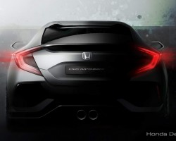 2016 Honda Civic Hatch concept. Image by Honda.