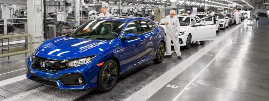 Honda Civic MkX production begins. Image by Honda.