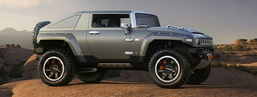A look at the cool Hummer HX concept. Image by Hummer.
