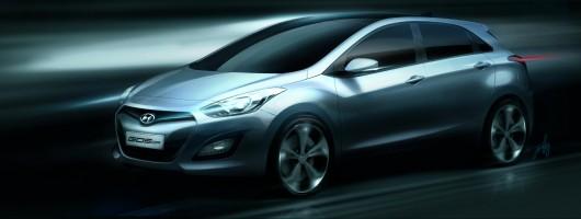 New Hyundai i30 teased. Image by Hyundai.