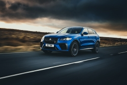 Updated Jaguar F-Pace SVR UK test. Image by Jaguar UK.