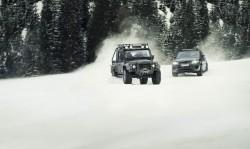 Jaguar Land Rover cars in the James Bond Spectre film. Image by Jaguar Land Rover.