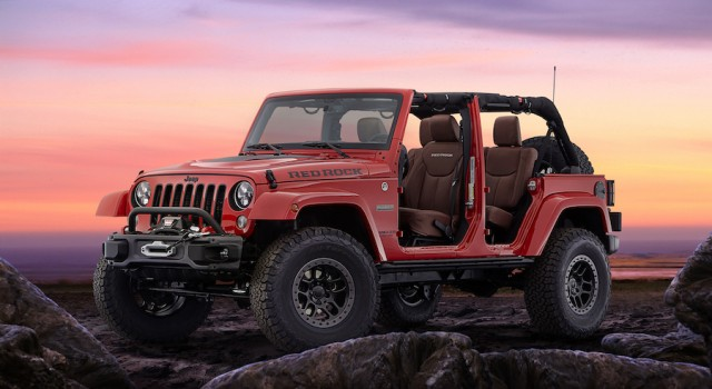 Jeep makes extreme Red Rock Wrangler. Image by Jeep.