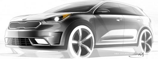 Kia prepares hybrid crossover. Image by Kia.