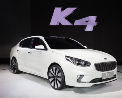 Kia's K4 on show in Beijing. Image by Kia.