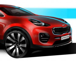 2015 Kia Sportage designer sketches. Image by Kia.