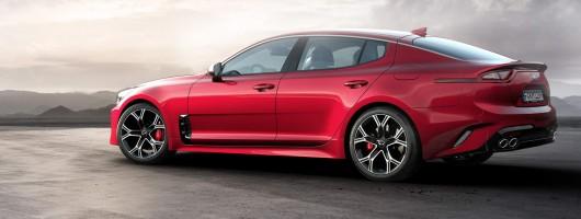 Kia's new range topper, the Stinger GT. Image by Kia.