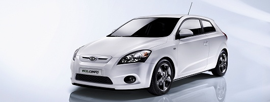 Kia eco-car set to take on best of frugal rivals. Image by Kia.
