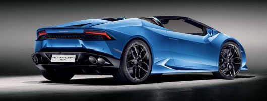 Roofless Huracán Spyder roars in from Lamborghini. Image by Lamborghini.