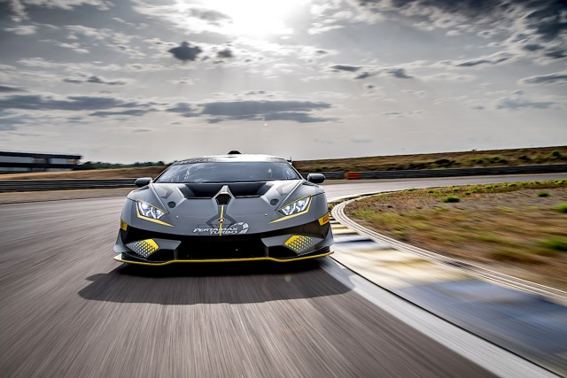 Lamborghini updates Huracan Super Trofeo racer. Image by Lamborghini.