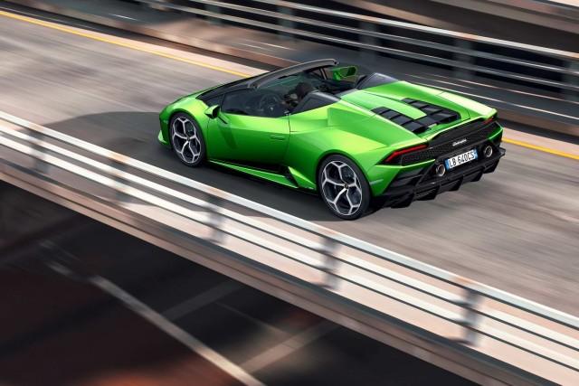 Lamborghini evolves Huracan Evo into Spyder model. Image by Lamborghini.