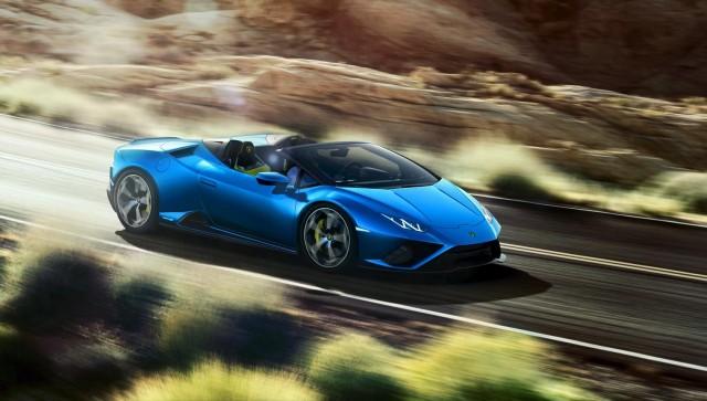 RWD for Lamborghini Huracan Evo Spyder. Image by Lamborghini.
