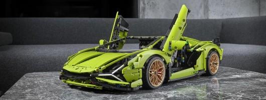 Lamborghini Sian goes Lego. Image by Lamborghini.