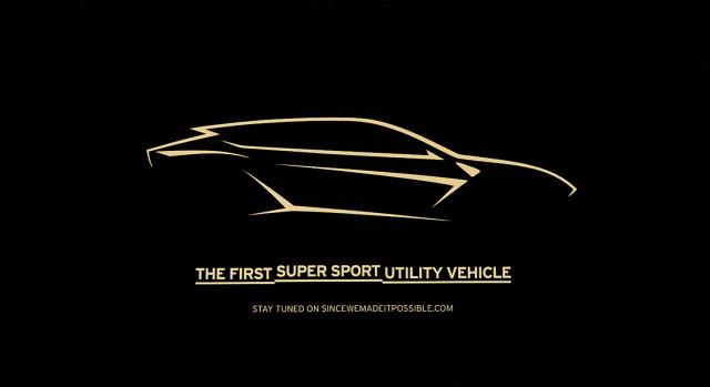 Lamborghini gives reveal date for Urus SUV. Image by Lamborghini.