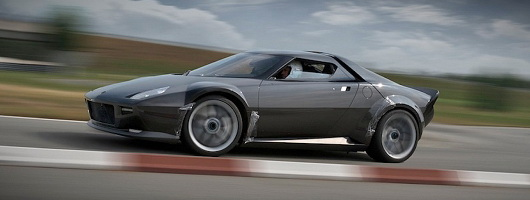 Lancia's iconic Stratos recreated by fan. Image by www.italiaspeed.com.