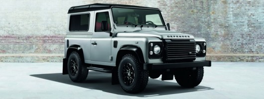 Silver and black Defenders. Image by Land Rover.