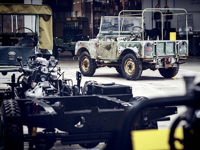Earliest Land Rover found in garden near factory. Image by Land Rover.