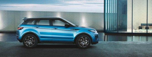 Range Rover Evoque celebrates with Landmark. Image by Land Rover.