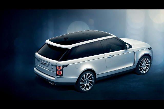 Range Rover reveals exclusive SV Coupe in Geneva. Image by Land Rover.