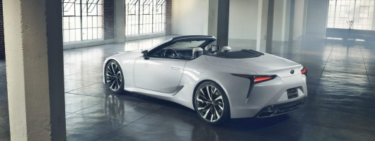 Lexus all-but confirms LC Convertible. Image by Lexus.