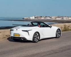 Lexus LC Convertible UK test. Image by Lexus.