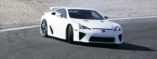 First drive: 2011 Lexus LFA supercar. Image by Lexus.