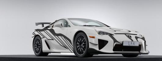 Lexus unveils LFA art car. Image by Lexus.