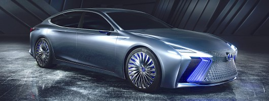 Lexus LS+ is a more realistic self-driving concept. Image by Lexus.