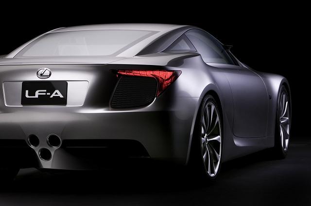 Lexus LF-A supercar in London. Image by Lexus.