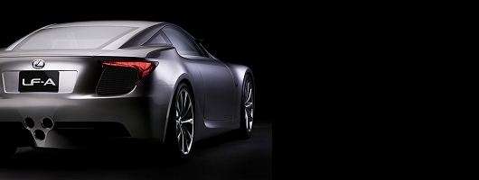 Lexus LF-A supercar in London. Image by Lexus.