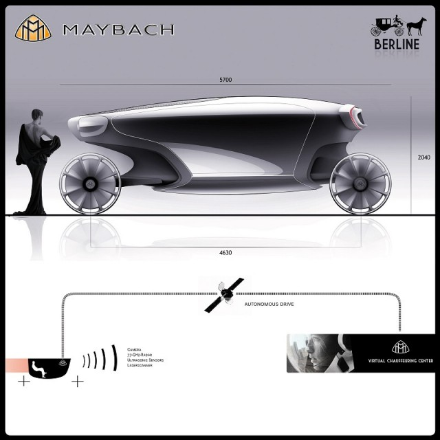Cinderella will go to the ball; in a Maybach. Image by Maybach.