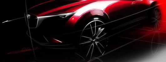 Mazda teases CX-3 for LA. Image by Mazda.