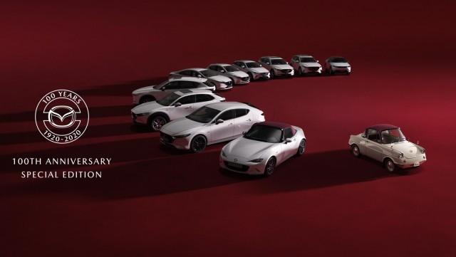 Mazda specials mark its 100th birthday. Image by Mazda.