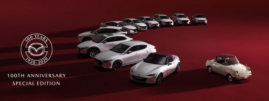 Mazda specials mark its 100th birthday. Image by Mazda.