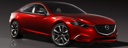 Mazda previews new saloon. Image by Mazda.