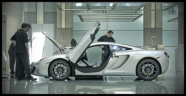 First public outing for the McLaren MP4-12C. Image by McLaren.