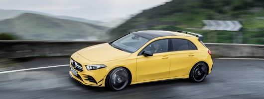 New Mercedes-AMG A 35 4Matic unveiled. Image by Mercedes-AMG.